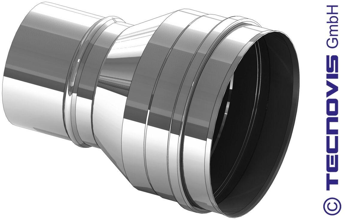 Verbreding RVS 100 naar 150 mm
