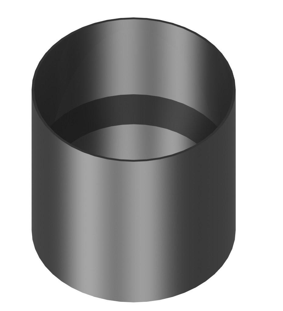 Kachelaansluiting dikwandig 130 mm met condensring