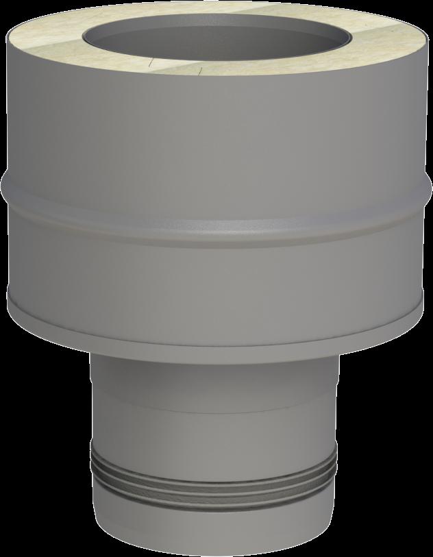 Koppelstuk enkelwandig naar dubbelwandig (pellet)