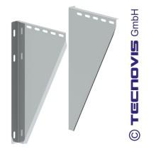 Muursteunen - 2 - voor konsoleplaat 5-15 cm