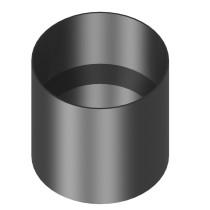 Kachelaansluiting dikwandig 160 mm met condensring