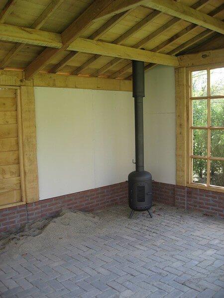 Beroemd Veranda rookkanaal of tuinhuis | Kachelconcurrent &JA42
